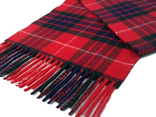 Merino Lambswool Scarves - Red Fraser Tartan Scarf