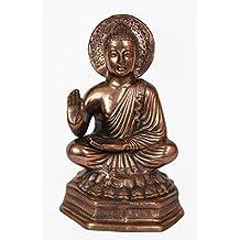 """18"""" BIG Gautam Buddha Statue Handmade Metal Copper Plated Art Home Decor Special Gift"""