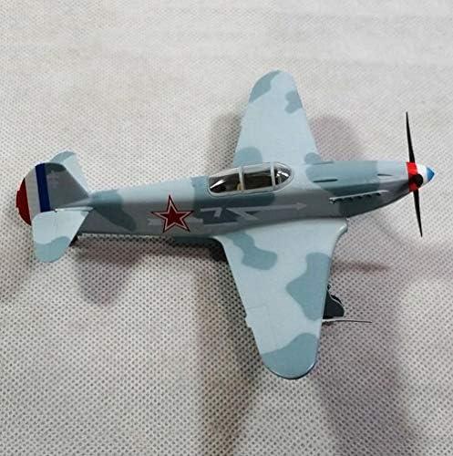 軍戦闘機プラモデル、72分の1スケールYAK-3ソビエトアダルトグッズやギフト、5.4Inch X 4.8Inch