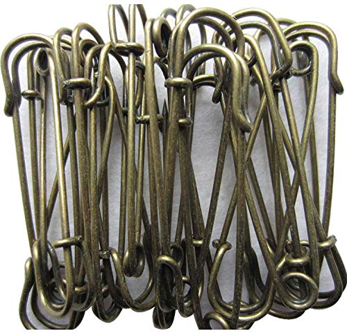 - LeBeila Heavy Duty Safety Pins - Stainless Steel Safety Pins for Blankets/Skirts / Kilts/Crafts Metal Large 20pcs in Bulk (2.4 inch, Bronze)