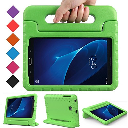 BMOUO Kids Case for Samsung Galaxy Tab A 7.0 - EVA Shockproof Case Light Weight Kids Case Super Protection Cover Handle Stand Case for Kids Children for Samsung Galaxy Tab A 7-inch Tablet - Green (Green 7 Samsung Galaxy Case Tab)
