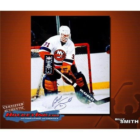 Billy Smith Autographed Photo - 16 x 20 - Autographed NHL Photos