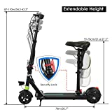 WeSkate Electric Scooter with Seat For Women/Men Adults Commuting Foldable Large Escooter with dual suspension Rechargeable Electrical Scooter Outdoor Commuting Max.220lb (2018 New)