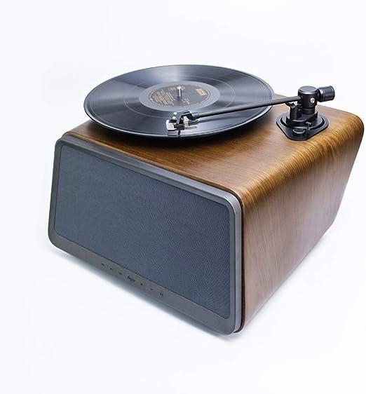 YWAWJ Disco de Vinilo del Tocadiscos Retro del fonógrafo Altavoz ...