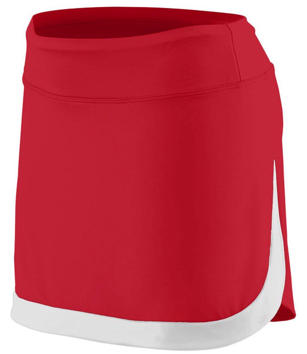 Augusta Sportswear Women'S Action Color Block Skort 2Xl Red/White