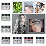 MOFAJANG Hair Color Wax, KooJoee Temporary Hair Dye Easy Wash Hairstyle Cream 4.23 oz Disposable Hair Pomades, Natural Matte Hair Modeling Wax for Party Cosplay Nightclub Masquerades