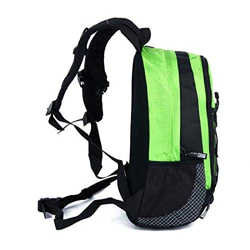 Männliche und weibliche Studenten reisen Klettern Taschen Flut von Wandern Outdoor Rucksack schultern Sportpaket, Rot