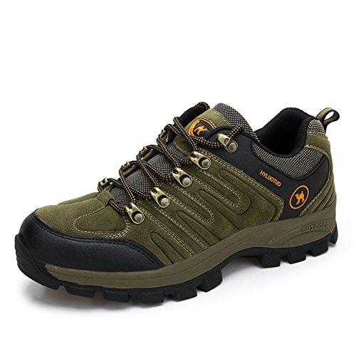 3C Camel Huayu 1252 Mens Walking Hiking Trail Lightweigh Waterproof Outdoor Suede Shoes (8, Brown) ()