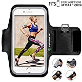 Evershow iPhone 6s Armband, Premium Water Resistant Sport Armband for iPhone 6, 6S Case Running Pouch Touch Compatible Key Holder | Also Fits Galaxy S6 Edge, S7