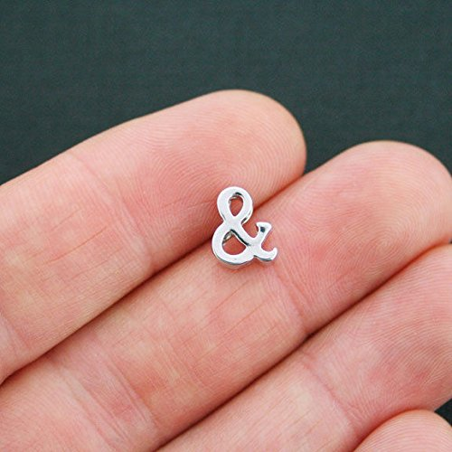 (Extensive Collection of Charm 4 Letter Ampersand Charms Antique Silver Tone - SC5180 Express Yourself)