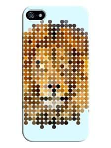 Youai Mosaics Lion Hard Back Shell Case / Cover for Iphone 5 and 5s - Alice Blue wangjiang maoyi