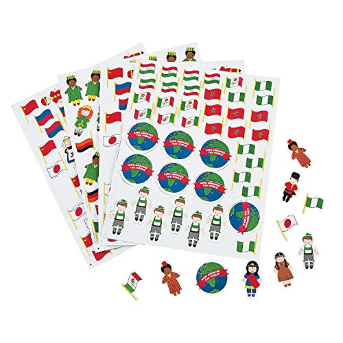 Kids Around The World Adhesive Foam Shapes (500 Pieces) Bulk Craft Supplies
