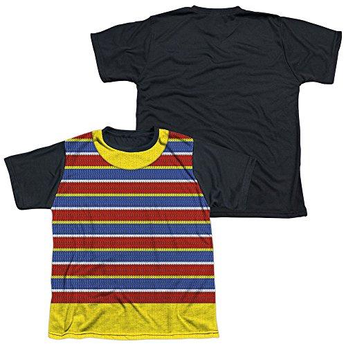 Sesame Street Classic TV Show Bert Costume Big Boys Youth Black Back T-Shirt (Bert And Ernie Kids Costumes)