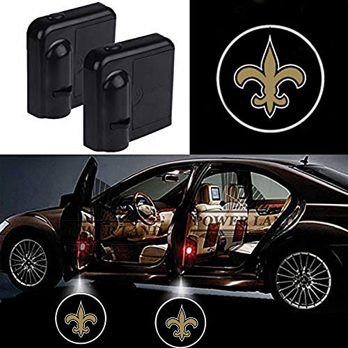 (For New Orleans Saints Car Door Led Welcome Laser Projector Car Door Courtesy Light Suitable Fit for all brands of cars(New Orleans Saints))