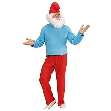 Disfraz para adultos de Papá Pitufo traje cómico enano traje ...