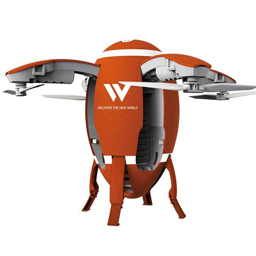 Mxjeeio Quadcopter mit 2,4 G WiFi FPV Rugby UAV RC mit 720P HD Kamera W5 faltendes eiförmiges Echtzeit-Luftpositionierung Feste vierachsige Flugzeuge ferngesteuerte Flugzeuge Drohne