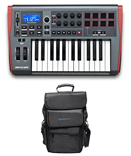 Novation IMPULSE 25 Ableton Live 25-Key MIDI USB Keyboard Controller+Carry Bag