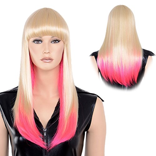 Stfantasy Wigs for Women Medium Straight Heat Friendly Synthetic Hair 23