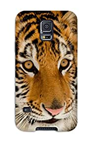 New Style Excellent Design Portrait Of A Tiger Phone Case For Galaxy S5 Premium Tpu Case