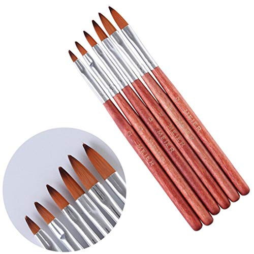 6PCS Women's Nail Pen, Momola Women Gel Nail Art Brush Set Painting...