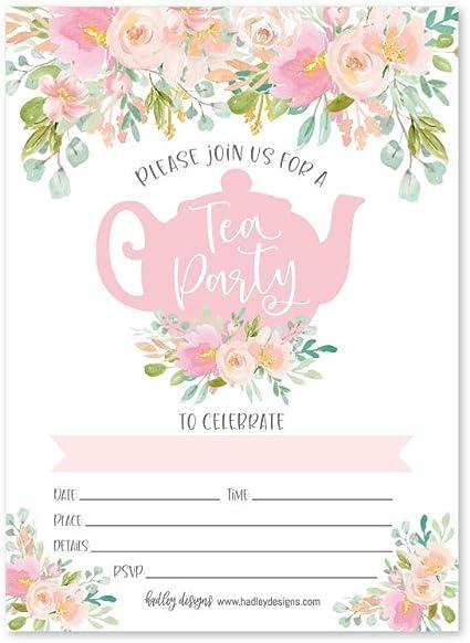 Corjl Flower Tea Party Invitation Tea Party Invite Tea Party Invitation Baby Shower Tea Party Invitation Baby Shower Invite