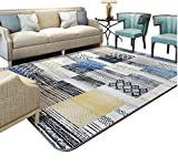Carpet Living Room Coffee Table Bedroom Bedside Blanket / Simple Modern Geometric Rectangular Room Carpet / Thickness Non-slip Home Decorative Carpet ( Size : 190280cm )