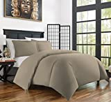 Zen Bamboo Ultra Soft 3-Piece Rayon Derived From Bamboo Duvet Cover Set -Hypoallergenic and Wrinkle Resistant - King/Cal King - Taupe
