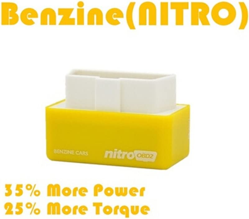 omufipw OBD2 Plug Regulator Chip Tuning Box Eco Plug Voiture Power Torque Fuel Optimisation 1 pc Yellow-Petrol