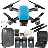DJI Spark Portable Mini Drone Quadcopter Hardshell Backpack Ultimate Bundle (Sky Blue)