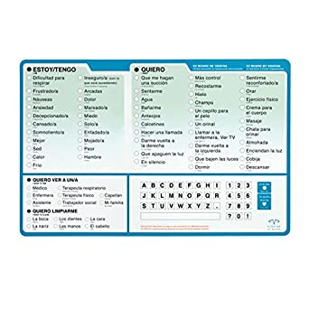 EZ Patient Communication Board Spanish