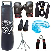 Byson Heavy Punch Boxing Kit Set for Practice and Advanced Level(36 inch Heavy Punching Bag, Boxing Gloves, Hand Wrap Gloves, Chain, Mouth Guard, Skipping Ropes, Hand Grip) Heavy Bag