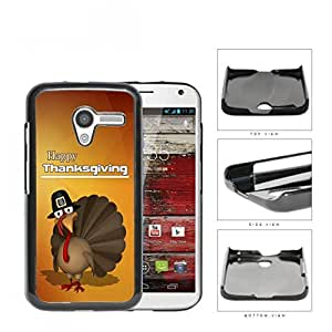 Happy Thanksgiving Turkey In A Hat Hard Plastic Snap On Cell Phone Case Motorola Moto X