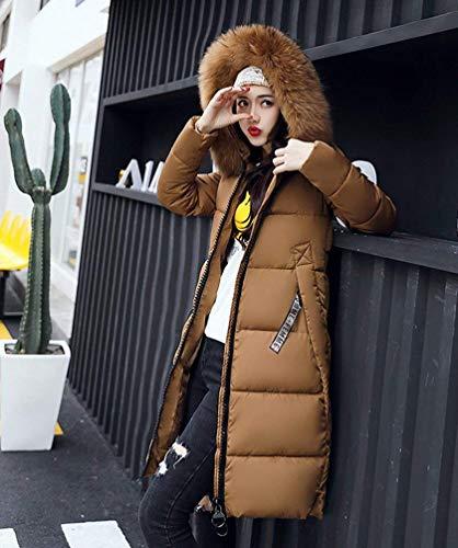 Loisir Long Fourrure Chemin Doudoune Styles Manches avec Parkas Chaud Femmes Outdoor Hiver Young Manteau Doudoune Capuchon Transition Oversize 8PB4Wq