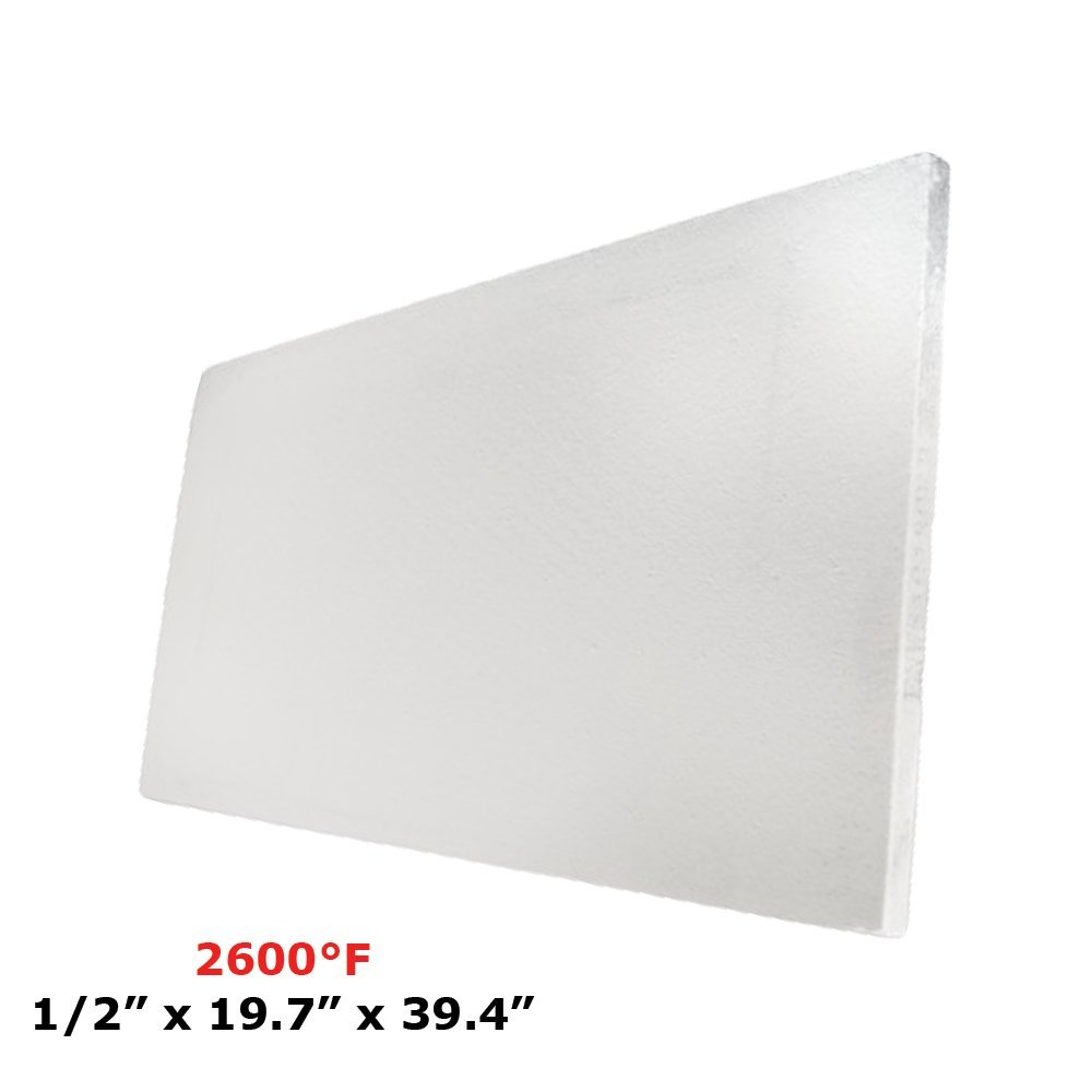 Thermal Insulation Board (2600F) (1/2'' x 19.7'' x 39.4) for Wood Ovens, Stoves, Forges, Kilns, Furnaces