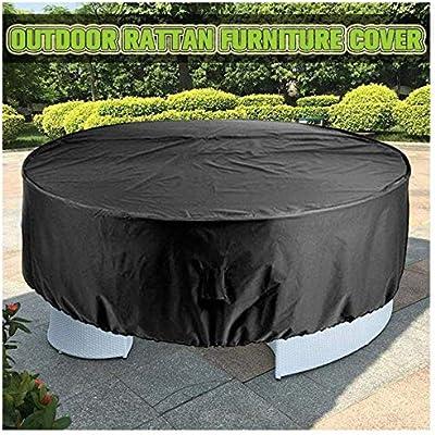 Funda para Muebles de Jardín, Cubierta de Protección para Muebles de Jardín para Muebles de Jardín Redondo/Circular 210D Oxford Tela Patio Mesa Sillas Muebles de Exterior, Negro: Amazon.es: Hogar