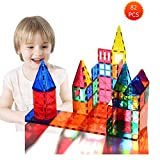Magnetic Building Blocks 82 Pcs, Magnetic Tiles Educational Construction Toys for Boys and Girls with Giftbox (82 PCS)