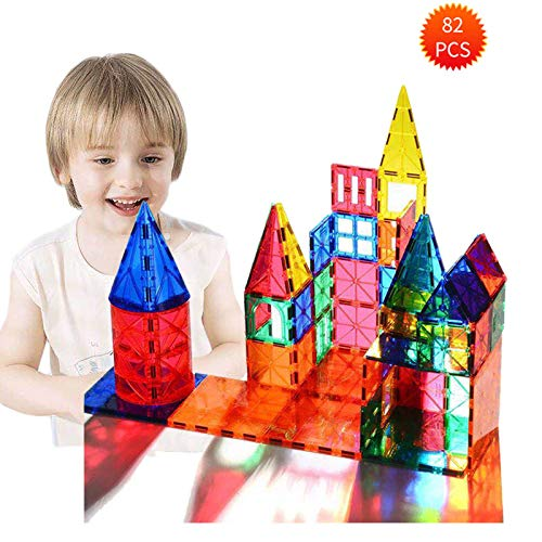 Magnetic Building Blocks 82 Pcs, Magnetic Tiles Educational Construction Toys for Boys and Girls with Giftbox (82 PCS) by Baobe (Image #8)