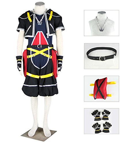 Dazcos Kingdom Hearts Anime Character Sora Cospaly Costume (Men L)