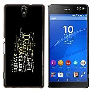 TECHCASE---Cubierta de la caja de protección para la piel dura ** Sony Xperia C5 Ultra ** --Mensaje Profundo