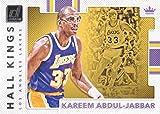 2017-18 Donruss Basketball Hall Kings #1 Kareem Abdul-Jabbar Los Angeles Lakers