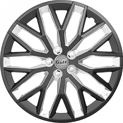 Noir//Argent 16 GULF E16GT40.BKBS Enjoliveur GT40 Set de 4