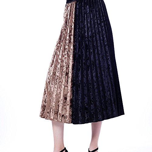 Velvet Patchwork Skirt - 4