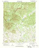 Virginia Maps   1967 Peaks of Otter, VA USGS Historical Topographic Map   18in x 24in