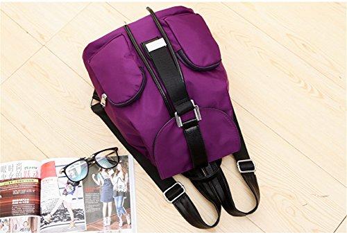 tellw para mujer niñas ocio bolsa de viaje de compras Mochila, mujer, morado, 24*13*30cm morado