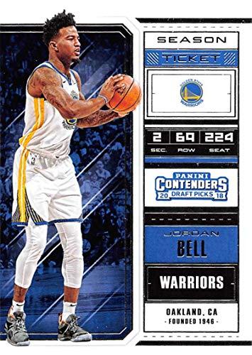 - 2018-19 Panini Contenders Draft Picks Basketball Season Ticket Variation #28 Jordan Bell Golden State Warriors Official NBA Trading Card