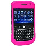 Amzer AMZ20519 Rubberized Snap on Crystal Hard Case for BlackBerry Bold 9000 (Hot Pink)