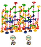 Large 210 Piece Marble Fun Run Set: 60 Marbles Included