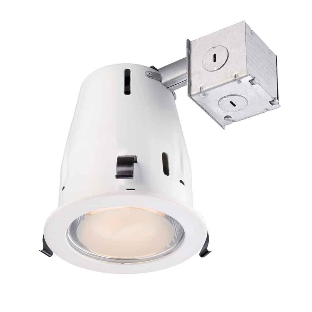 Commercial Electric 4 in. Recessed White Shower Kit