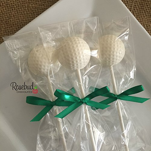 12 GOLF BALL Chocolate Lollipops Candy Party FAVORS (One Dozen) Sports