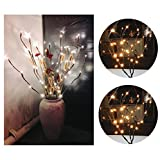LED Willow Branch Lamp Lights 20 Bulbs 30 Inches Christmas Party Decor (3)